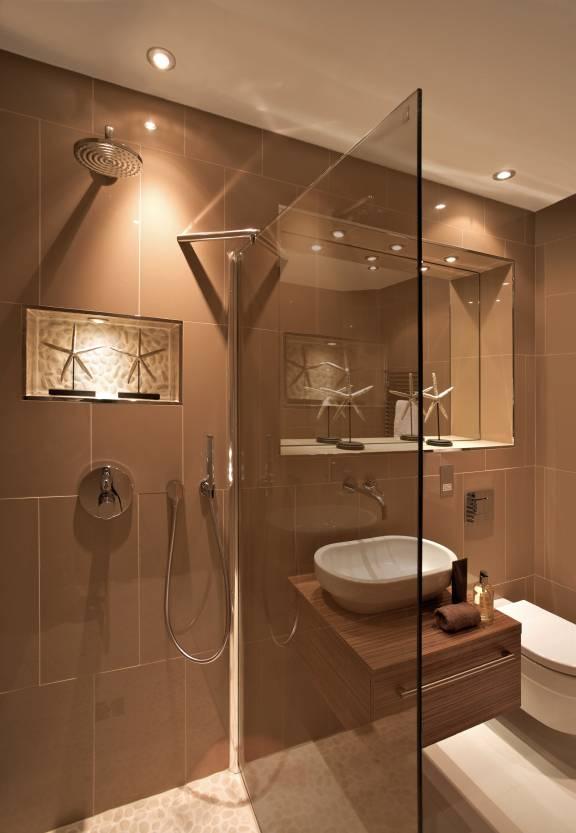 Bronze Glass in Bathrooms
