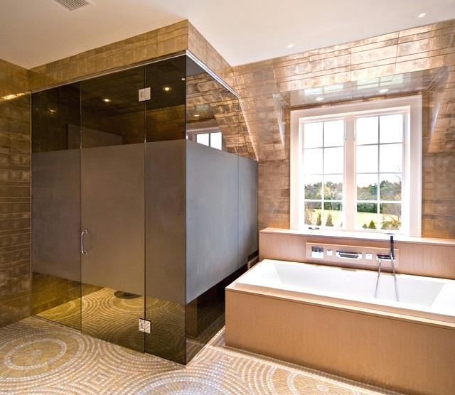 Bronze Glass in Bathrooms Right On Trend in 2019