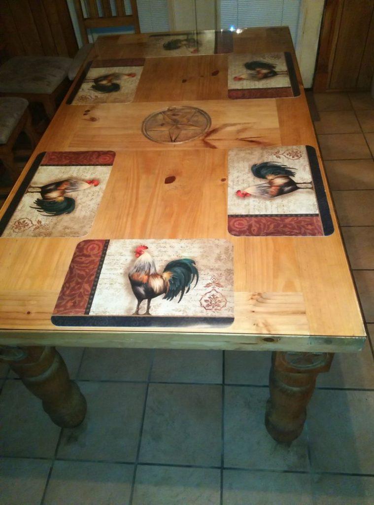 Table top glass, Barton Glass Co., Texas