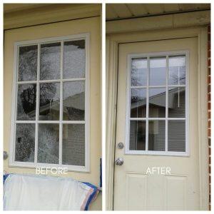 Tempered door glass replacement