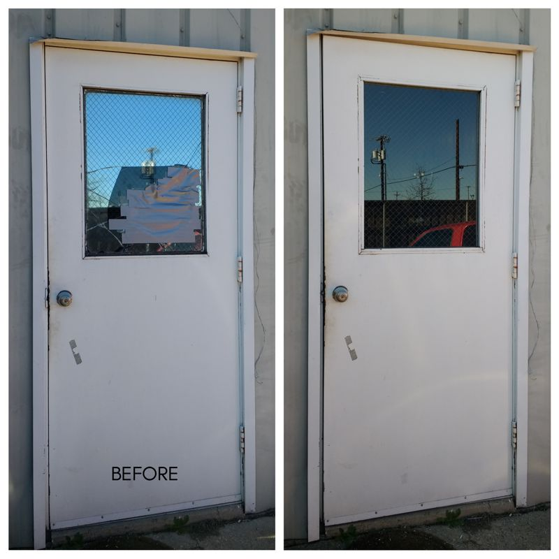 Wire glass replacement