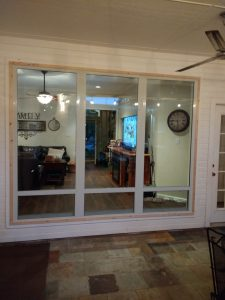 Clear glass window/frame replacement